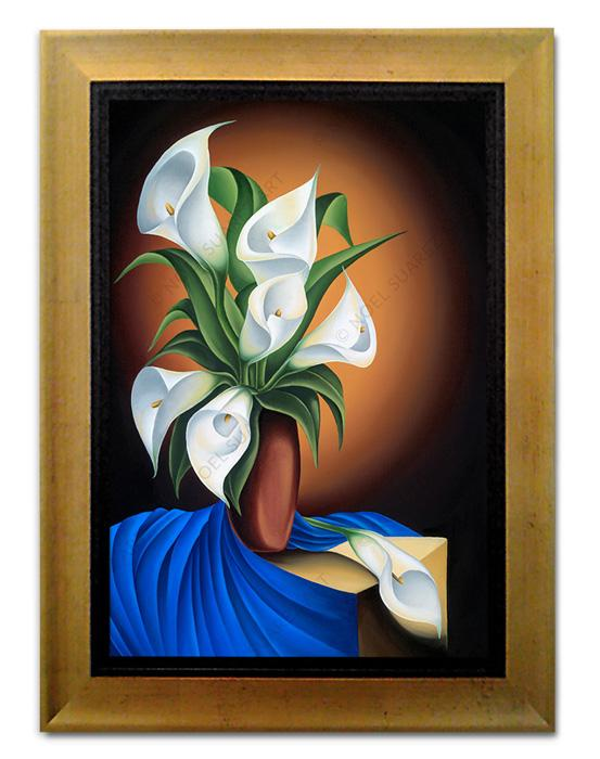 """Still Life with Calas"" Framed Giclée on Paper (Frame received may differ from the one pictured)"