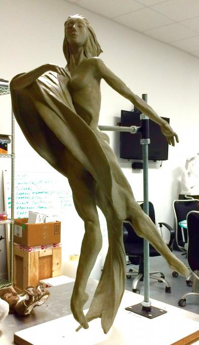 "In progress work on ""The Dancer II"" by Noel Suarez."