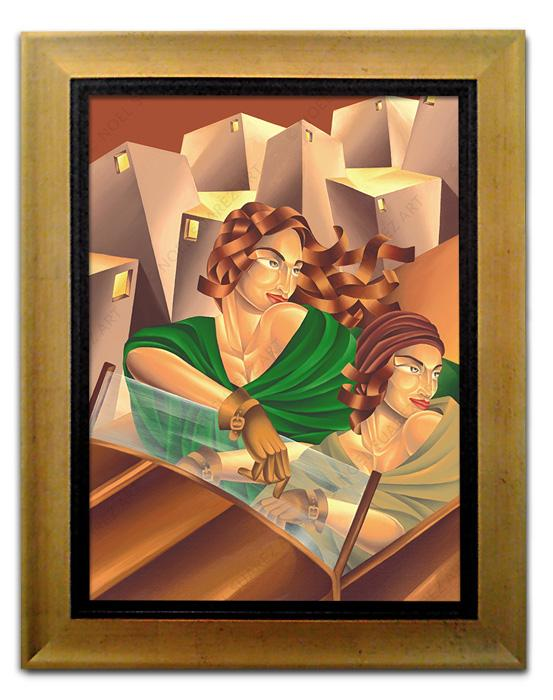 """The Joy of Driving II"" Framed Giclée on Canvas (Frame received may differ from the one pictured)"