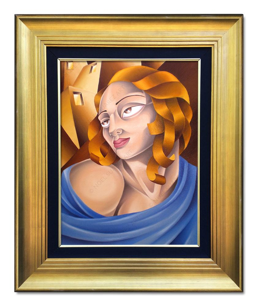 """Urban Madonna"" Framed Original Oil Painting (Please Note: Framing options are at the choice of the Artist and may not look like what is pictured here)"