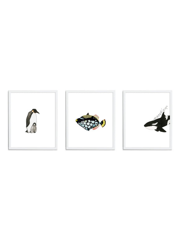 Minimalist Gift Set - Wee Wild Ones - Art Prints