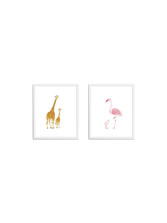 Sweet Safari Gift Set - Wee Wild Ones - Art Prints