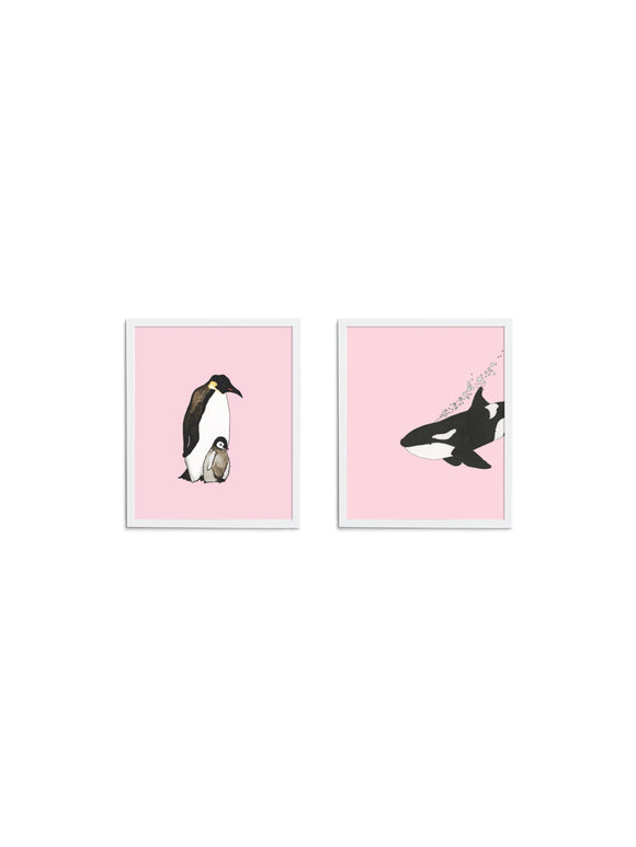 Pop of Pink Gift Set - Wee Wild Ones - Art Prints