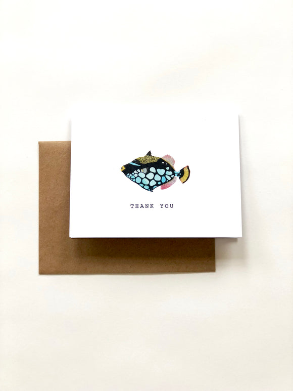 Triggerfish Thank You Card - Wee Wild Ones - Art Prints