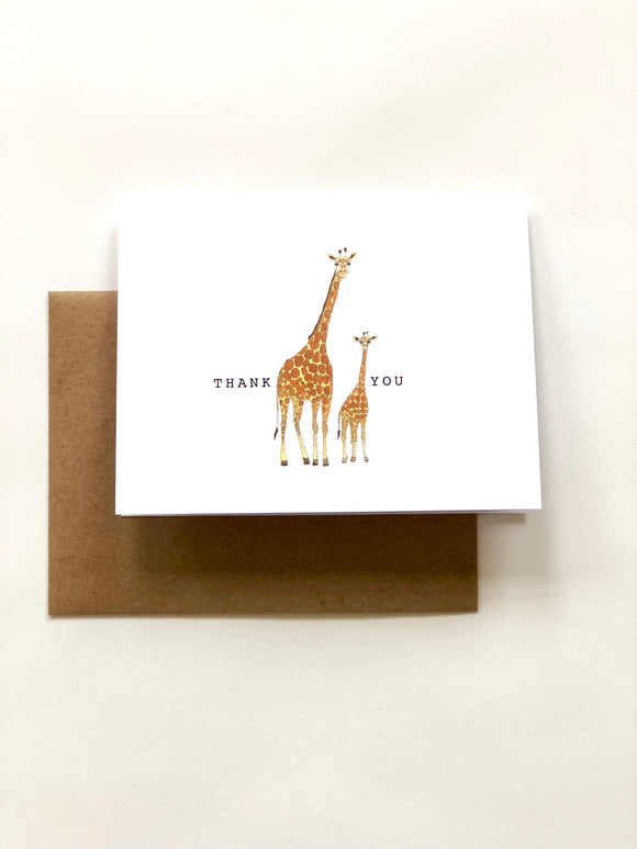 Giraffe Thank You Card - Wee Wild Ones - Art Prints