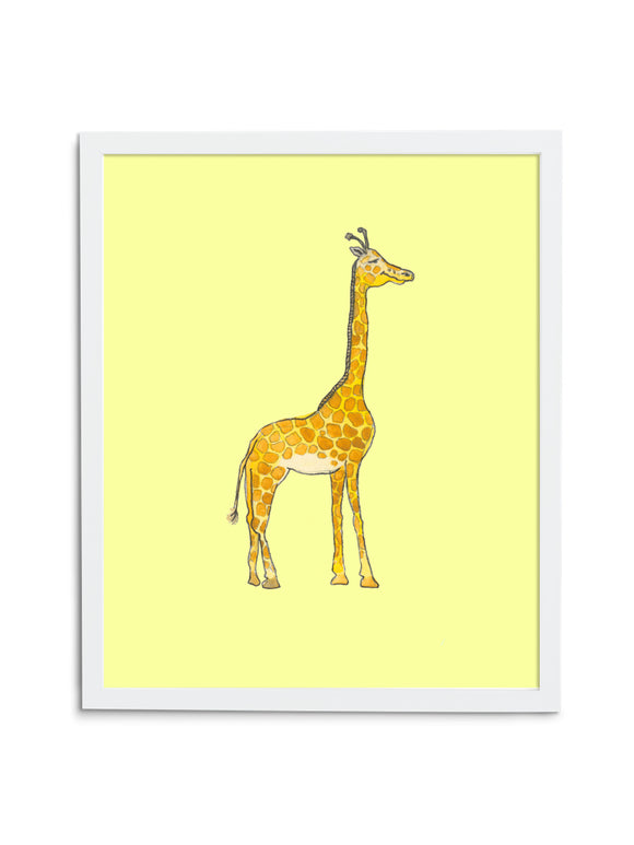 Giraffe Baby—Yellow - Wee Wild Ones - Art Prints