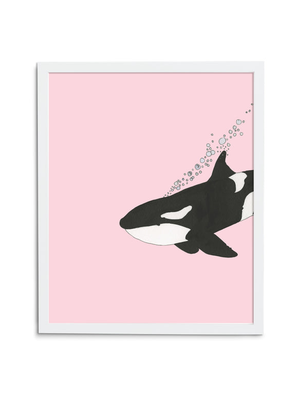 Orca—Pink - Wee Wild Ones - Art Prints