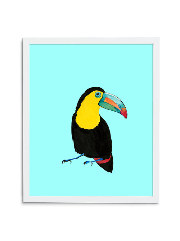 Toucan—Blue - Wee Wild Ones - Art Prints