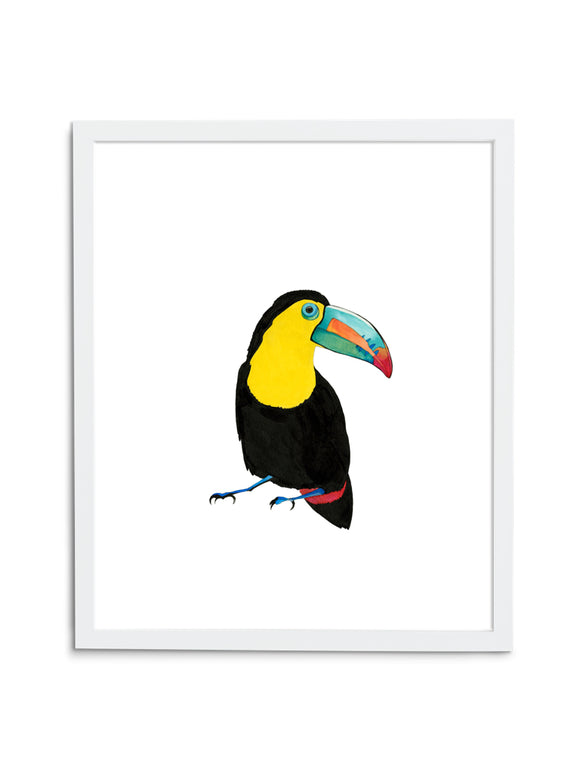 Toucan—White - Wee Wild Ones - Art Prints