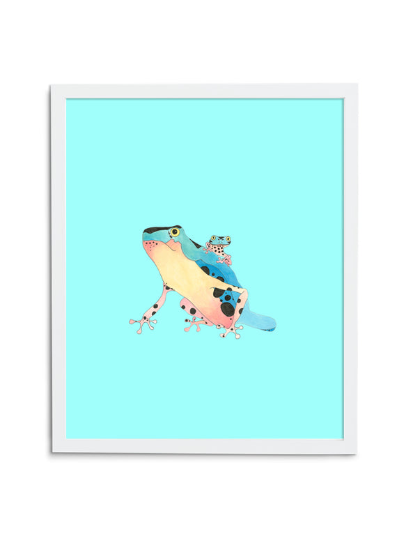 Tree Frog Pair—Blue - Wee Wild Ones - Art Prints