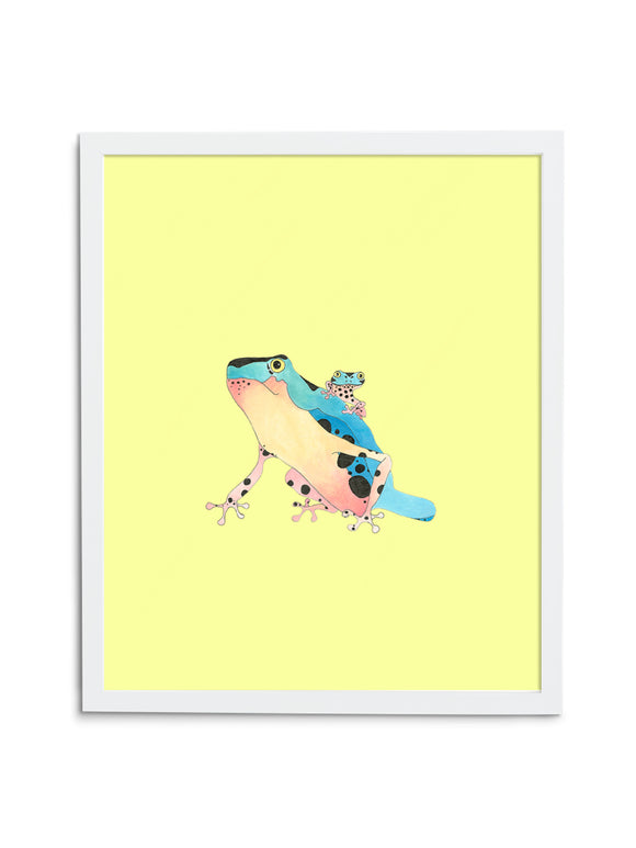 Tree Frog Pair—Yellow - Wee Wild Ones - Art Prints