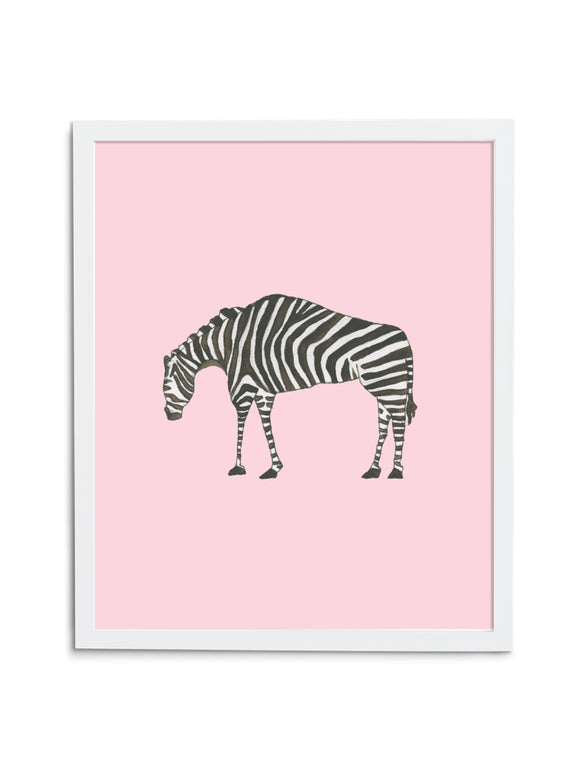 Zebra Baby—Pink - Wee Wild Ones - Art Prints