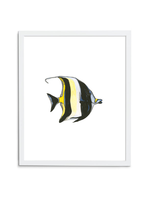 Moorish Idol—White - Wee Wild Ones - Art Prints