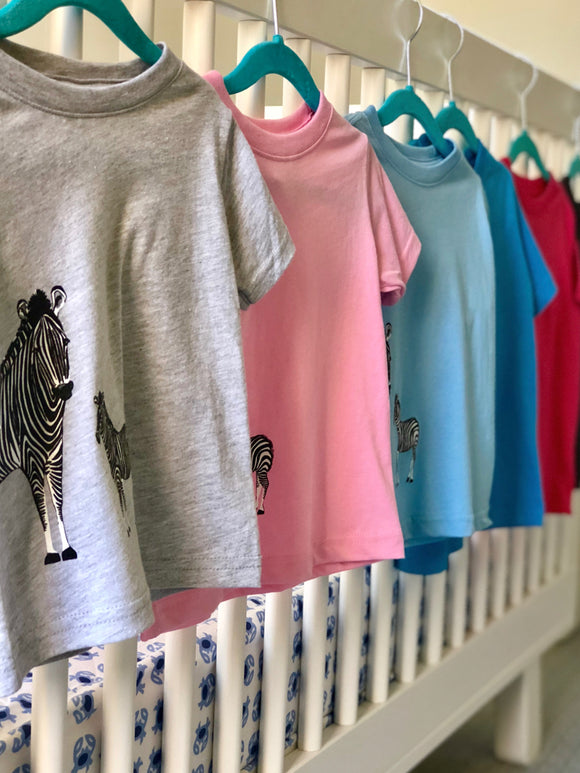 Zebra Tee - Wee Wild Ones - Art Prints
