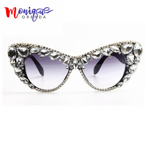 2017 Oversize Cat Eye Sunglasses Women Brand Designer FPSWSN25