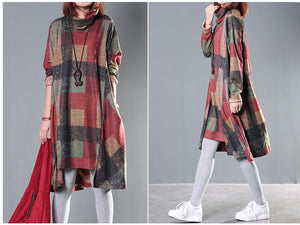 Autumn Winter Dress Plus Size 2XL Clothing Loose FPSWD019