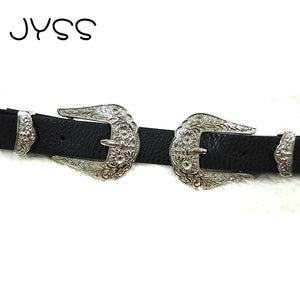 belts for women Two belt fastener High quality Faux leather belt FPSWBC14