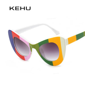 KEHU Women Cat Eye Style Sunglasses Women Brand Designer FPSWSN25