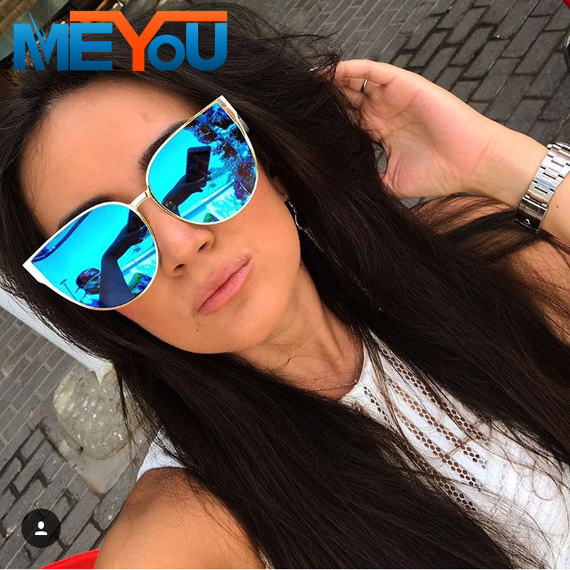 MEYOU 2017 New Oversize Cat Eye Sunglasses FPSWSN25