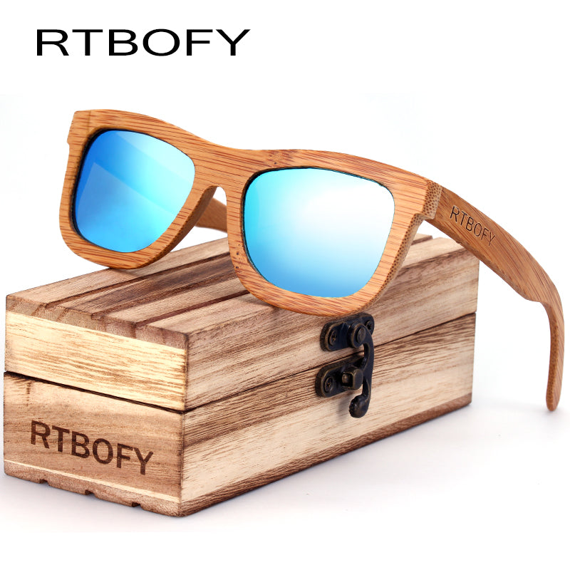 Women 2017 Brand Designer Original Polarized Wood Bamboo FPSWSN25