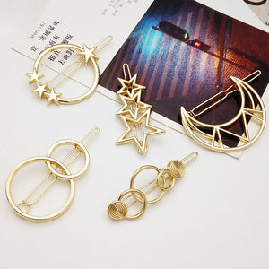 SP&CITY Fashion Star Moon Design Metal Popular Hairpins FPSWHA20