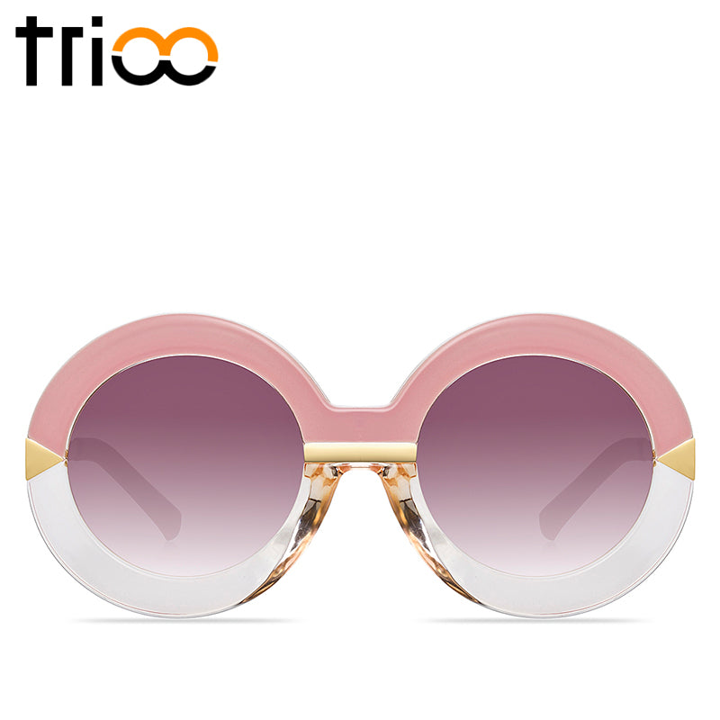 TRIOO Big Round Sunglasses Women FPSWSN25