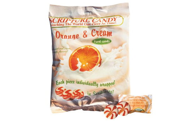 Scripture Candy,  Orange & Cream