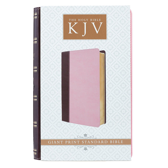 KJV Pink/Brown Giant Print Bible
