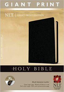 NLT Holy Bible, Giant Print , Imitation Black Leather - Indexed