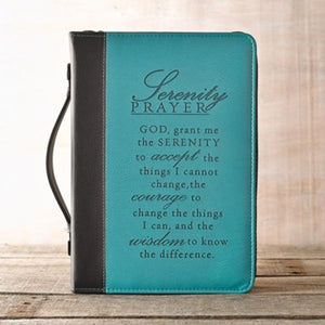 Serenity Prayer Bible Cover, Large, LuxLeather