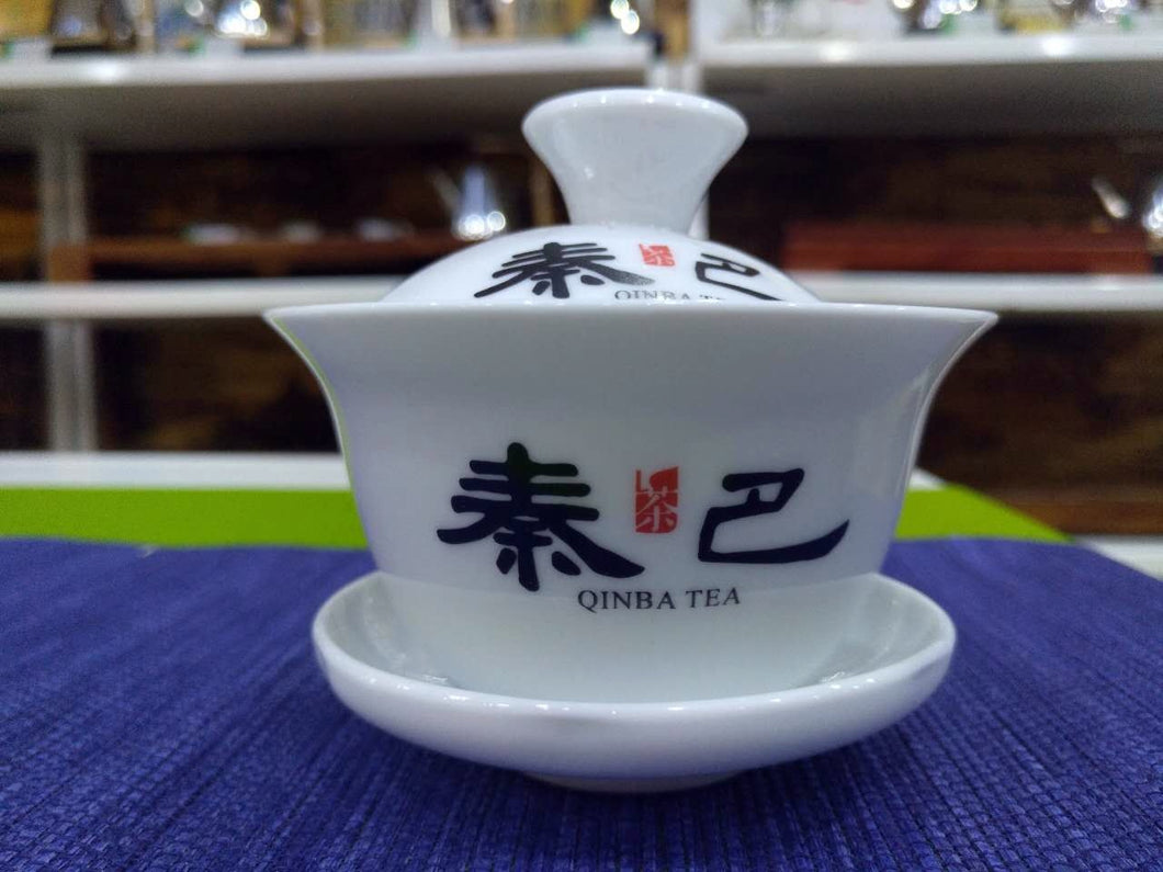 Qinba Tea White Ceramic Gaiwan