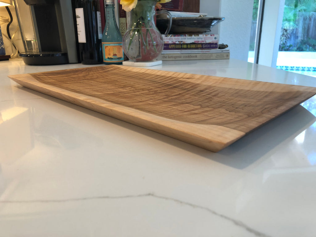 Curly Maple Serving Platter