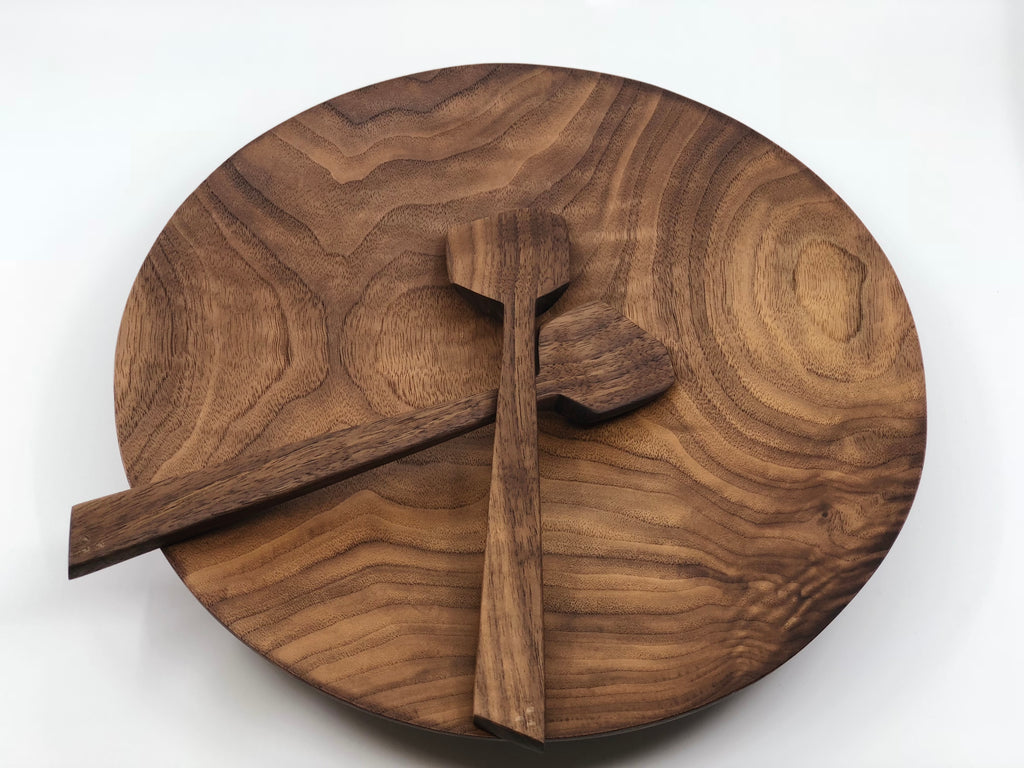 Bowl in Black Walnut & Serving Utensils