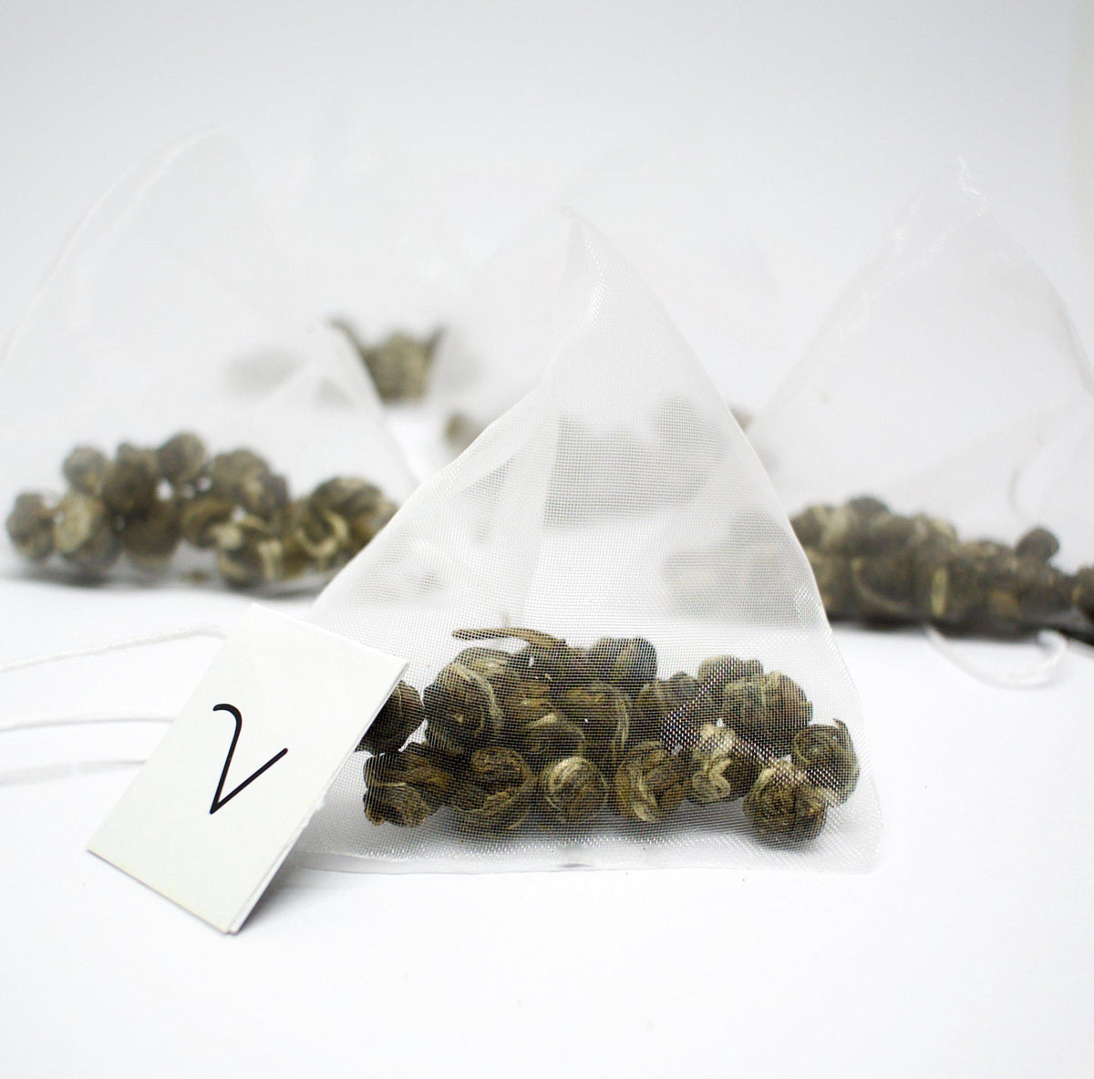 Jasmine Pearls green tea- 12 tea bag wholesale - VIRTUE Tea