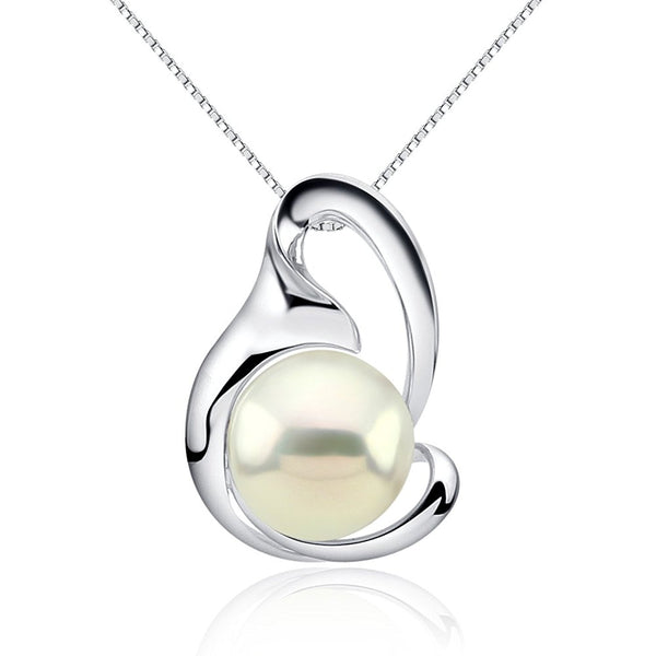 Fascinating Color 12-13mm White Freshwater Cultured Pearl Pendant-Sterling Silver