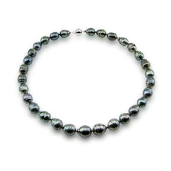 "14k White Gold Clasp 10-13mm Baroque Tahiti Cultured Pearl Necklace- AAA Quality, 18"" Princess Length"