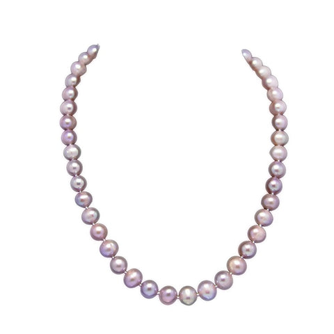 A Quality Lavender Freshwater Cultured Pearl Necklace(9.0-10.0mm), 18""