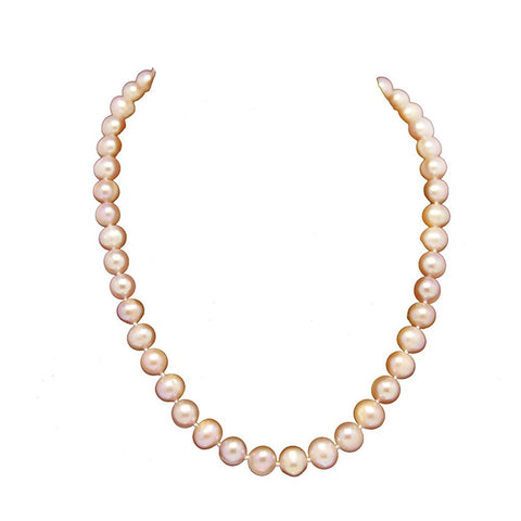 A Grade Pink Freshwater Cultured Pearl Necklace(8.5-9.5 mm), 18""