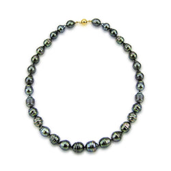 14k Yellow Gold Clasp 10-13mm Baroque Tahiti Cultured Pearl Necklace - AAA Quality, 20 Inches