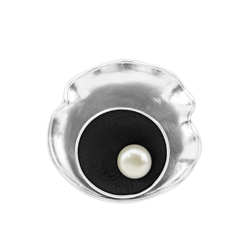 9-10mm Freshwater Cultured Pearl brooch