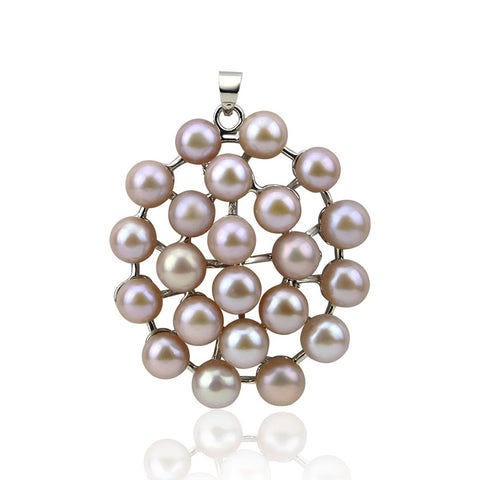 8.0-9.0mm Lavender Freshwater Cultured Pearl Pendant