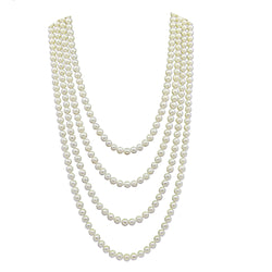 6.5-7.5 mm Freshwater Cultured Pearl Endless Necklace 100""