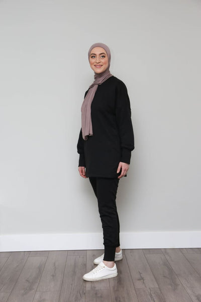 Black Loungewear *TOP* - Afflatus Hijab