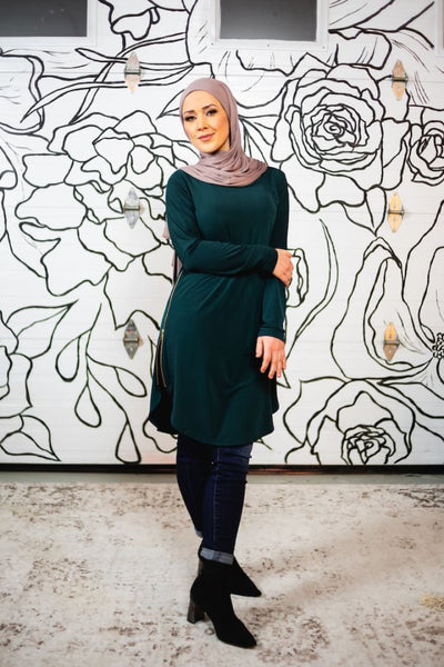 Brandi (Sabira) Murakami Zipper Top - Afflatus Hijab - casual clothing dress dressy fashion