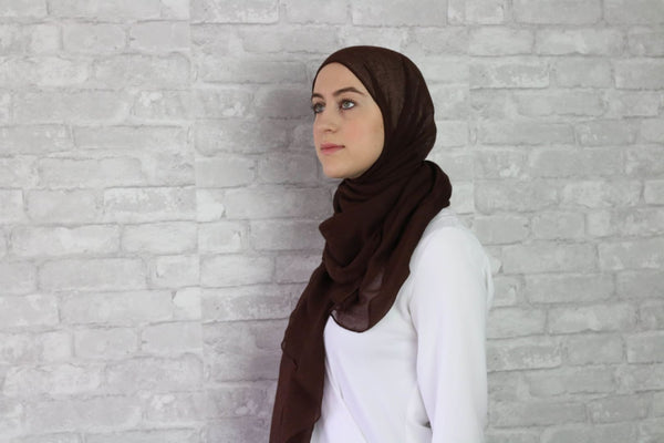 Brown Cotton Hijab - Afflatus Hijab - Cotton