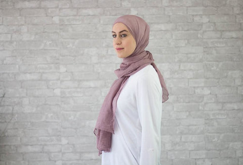 Dusty Pink Cotton Hijab - Afflatus Hijab - Cotton Hijabs