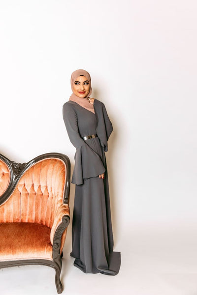 Ilhan Omar - Dress - Afflatus Hijab - Casual Dress Dresses Dressy Formal, modest, fashion, muslim, maxi, long sleeves