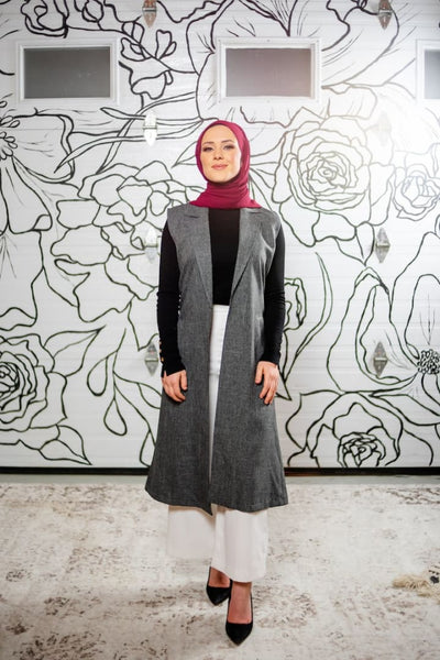 Jennifer Grout - Vest - Afflatus Hijab - all season any occation islamic modest clothing modest fashion