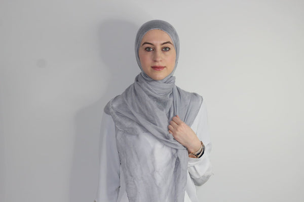 Light Grey Cotton Hijab - Afflatus Hijab - Cotton