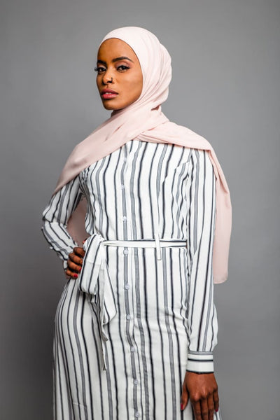 Yasmin Long Sleeve Maxi Stripe Dress - Afflatus Hijab - dresses